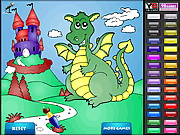 Dragon Castle Coloring